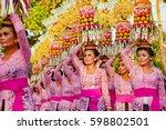 denpasar  bali island ...   Shutterstock . vector #598802501