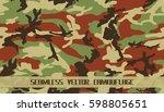 seamless vector camouflage | Shutterstock .eps vector #598805651