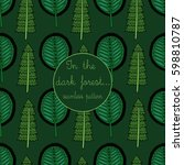seamless pattern of funny... | Shutterstock .eps vector #598810787