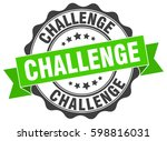 challenge. stamp. sticker. seal.... | Shutterstock .eps vector #598816031