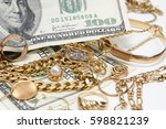 buying gold and silver | Shutterstock . vector #598821239