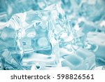 heap of ice cubes. background... | Shutterstock . vector #598826561
