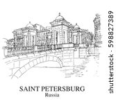 saint petersburg  russia  view... | Shutterstock .eps vector #598827389