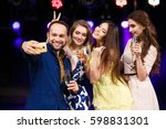 party  holidays  technology ... | Shutterstock . vector #598831301
