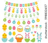 easter vector decoration and... | Shutterstock .eps vector #598832657