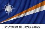marshall islands flag vector...   Shutterstock .eps vector #598833509