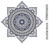 flower mandalas. vintage...   Shutterstock .eps vector #598834604