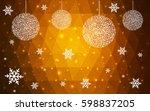 light orange vector christmas...   Shutterstock .eps vector #598837205