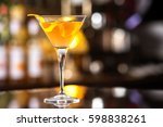 fresh tall glass of tropical... | Shutterstock . vector #598838261