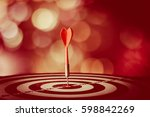 target hit in the center by... | Shutterstock . vector #598842269