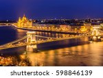 aerial view of budapest at... | Shutterstock . vector #598846139