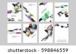 memphis geometric background... | Shutterstock .eps vector #598846559