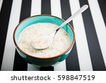 5 cereal porridge with milk  ... | Shutterstock . vector #598847519