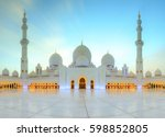 sheikh zayed grand mosque at... | Shutterstock . vector #598852805