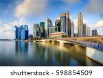 singapore skyline and view of...   Shutterstock . vector #598854509