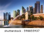 singapore skyline and view of... | Shutterstock . vector #598855937