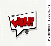 lettering win. comics book... | Shutterstock .eps vector #598856741