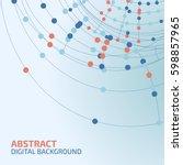 vector abstract background.... | Shutterstock .eps vector #598857965
