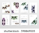 memphis geometric background... | Shutterstock .eps vector #598869035
