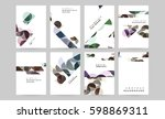 memphis geometric background... | Shutterstock .eps vector #598869311