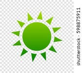 sun sign illustration. vector....