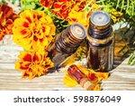 essential oil of chernobrivtsev ...   Shutterstock . vector #598876049