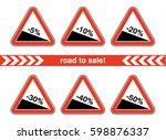 sale icon set  | Shutterstock .eps vector #598876337