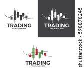 trading logo | Shutterstock .eps vector #598878245