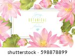 vector botanical horizontal... | Shutterstock .eps vector #598878899