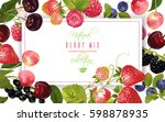 vector horizontal banner with... | Shutterstock .eps vector #598878935