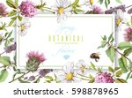 vector horizontal wild flowers