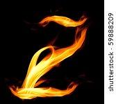 fiery font. letter z | Shutterstock . vector #59888209