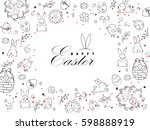 template vector card with eggs  ...   Shutterstock .eps vector #598888919