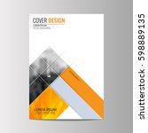 abstract flyer design... | Shutterstock .eps vector #598889135