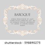 vector baroque frame | Shutterstock .eps vector #598890275