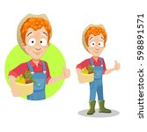 vector illustration of young... | Shutterstock .eps vector #598891571