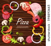 pizza menu. products for pizza  ... | Shutterstock .eps vector #598893665
