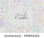 template vector card with... | Shutterstock .eps vector #598896281