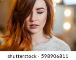 close up portrait of a... | Shutterstock . vector #598906811