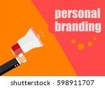 flat design business concept.... | Shutterstock . vector #598911707