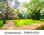 spanish monastery. saint... | Shutterstock . vector #598914191