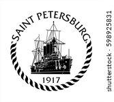 sign st.petersburg | Shutterstock .eps vector #598925831