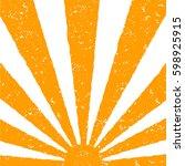 orange sun background hand
