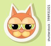 volumetric sticker with the...   Shutterstock .eps vector #598931321