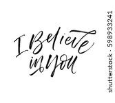 i believe in you postcard.... | Shutterstock .eps vector #598933241