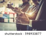 business people clapping their... | Shutterstock . vector #598933877