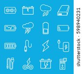 charge icons set. set of 16...   Shutterstock .eps vector #598940231