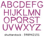 jagged uppercase alphabet | Shutterstock .eps vector #598942151