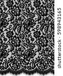 seamless black vector lace... | Shutterstock .eps vector #598943165