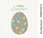 colorful happy easter greeting... | Shutterstock .eps vector #598944071